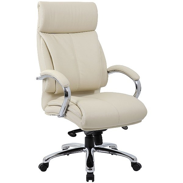 Savona Leather Executive Office Chair Cream