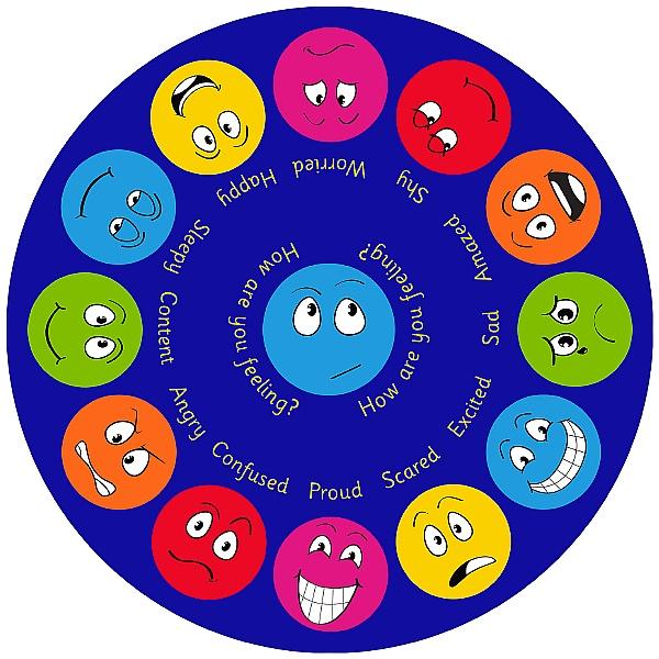 Emotions Circular Carpet