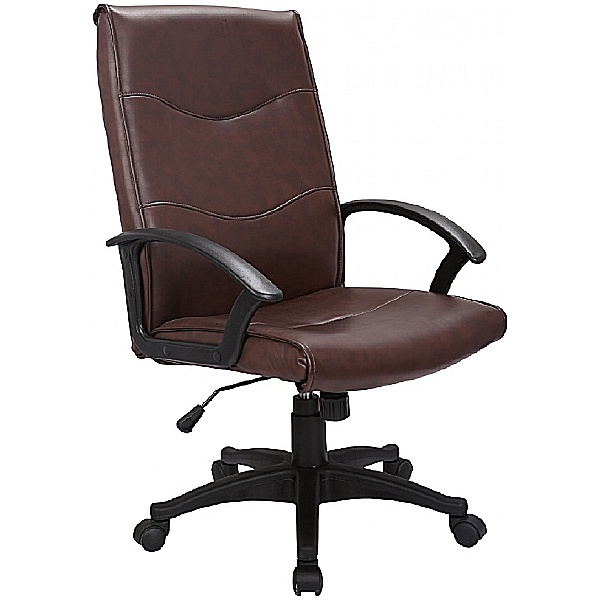 Farnborough Leather Faced Manager Chair