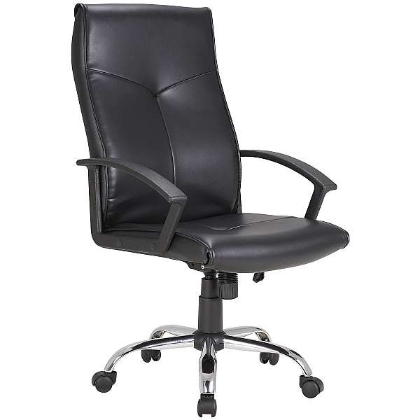 Oregon Leather Faced Manager Chair