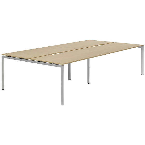 NEXT DAY Force Classic 4 Person Bench Desk