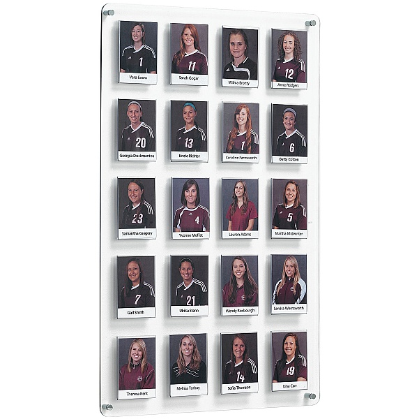 Crystal Wall Team Board 20 Pockets