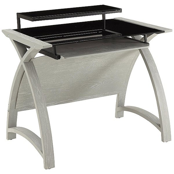 Spectrum Grey Real Wood Veneer Computer Desk