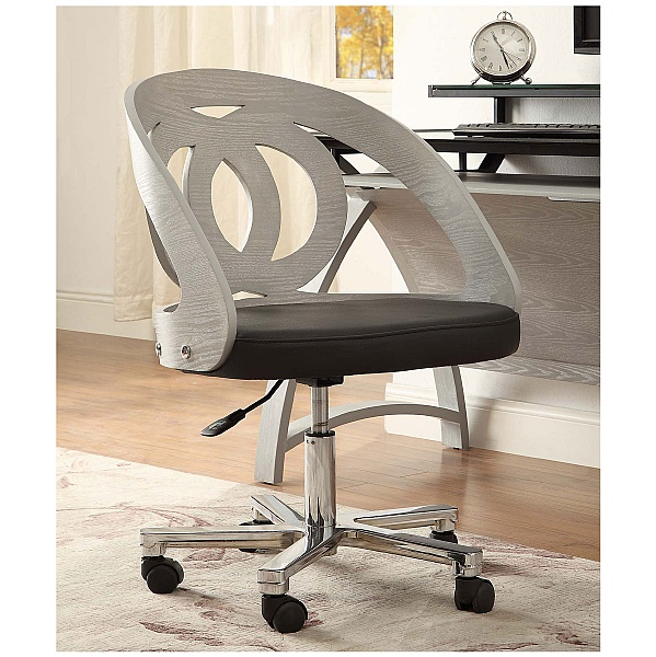 Spectrum Grey Real Wood Veneer Office Chair