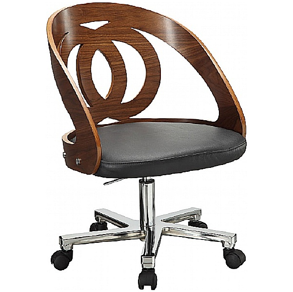 Spectrum Walnut Real Wood Veneer Office Chair