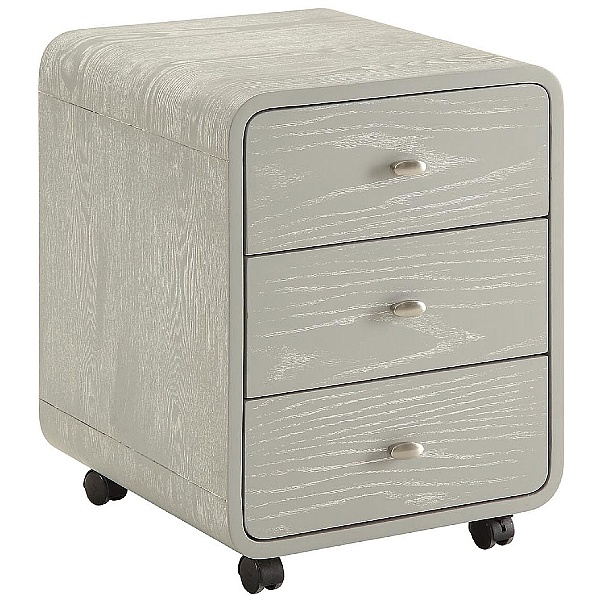 Spectrum Grey Real Wood Veneer Pedestal