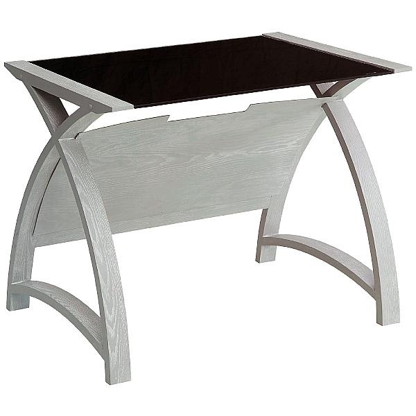 Spectrum Grey Real Wood Veneer Laptop Desk
