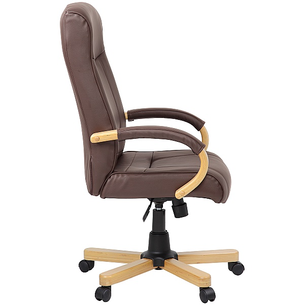 Farnham Brown Leather Office Chair