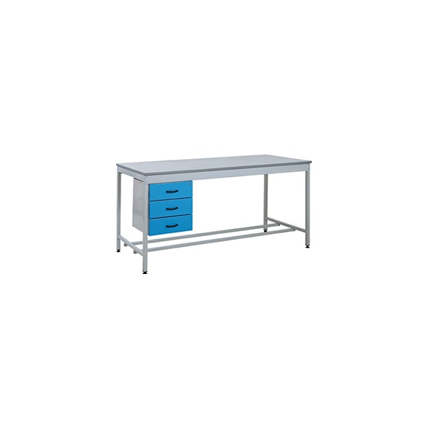 Taurus Utility Workbench With Three Drawer Pedestal