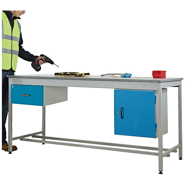Taurus Utility Workbench With Fixed Cupboard And Drawer