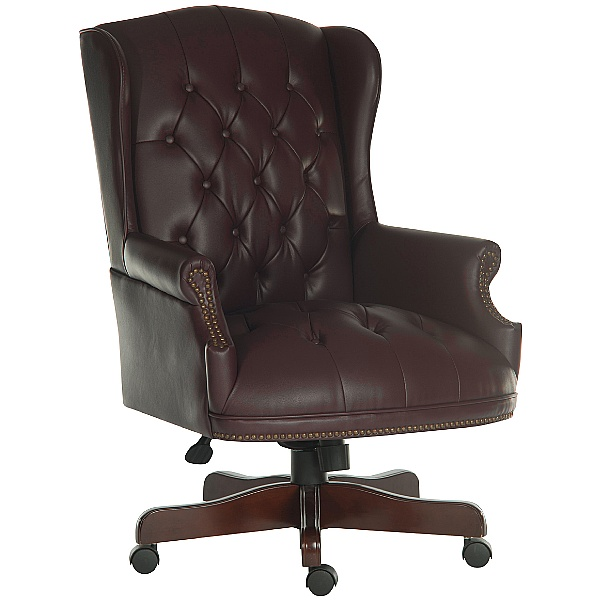 Chairman Burgundy Traditional Manager Chair