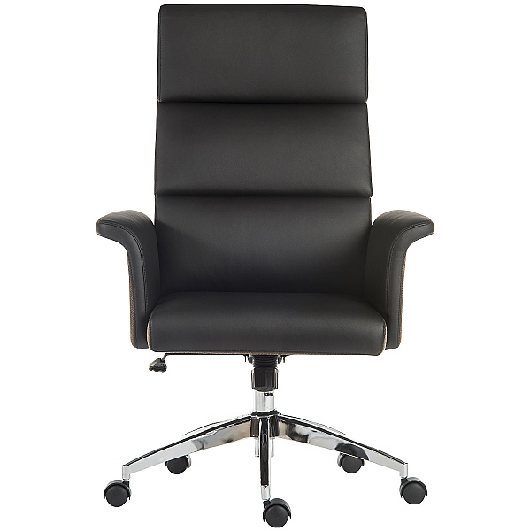 Elegance High Back Leather Look Executive Chair Black