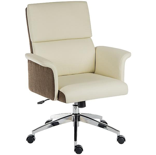 Elegance Medium Back Executive Chair Cream