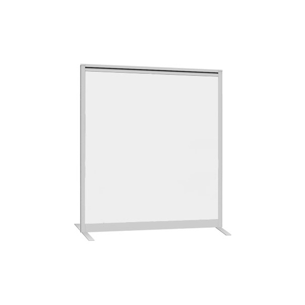 Lumiere Straight Glazed Freestanding Partition Screen