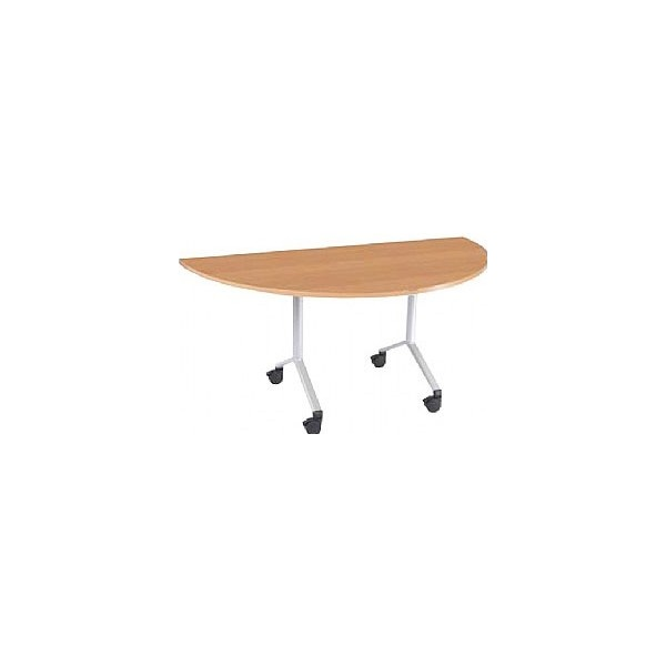 NEXT DAY Semi Circular Flip Top Meeting Table