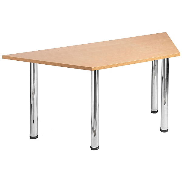 NEXT DAY Unite II Trapezoidal Chrome Tubular Leg Tables