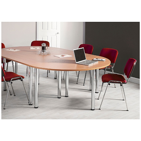 NEXT DAY Unite II Rectangular Chrome Tubular Leg Tables