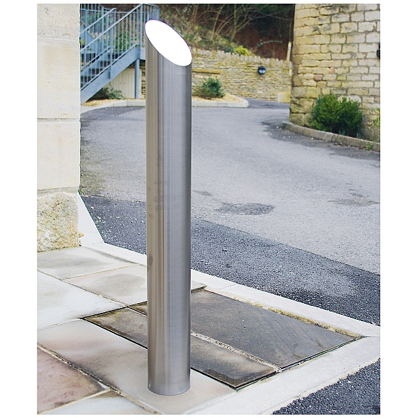 Chichester 45 Removable Stainless Steel Bollards - Padlocked