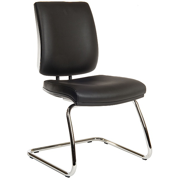 Titan 25 Stone Leather Look Visitor Chair