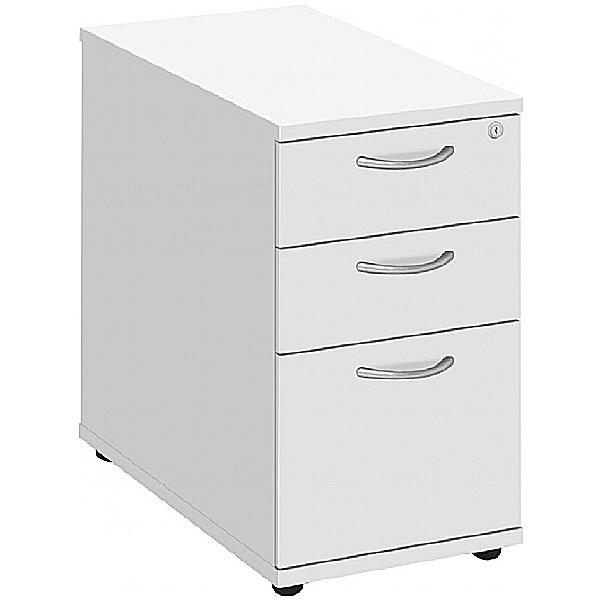 Commerce II White Desk High Pedestals