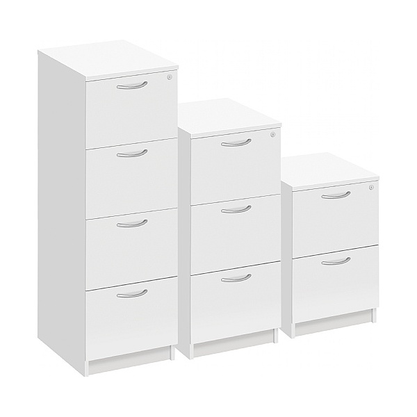 Commerce II White Filing Cabinets