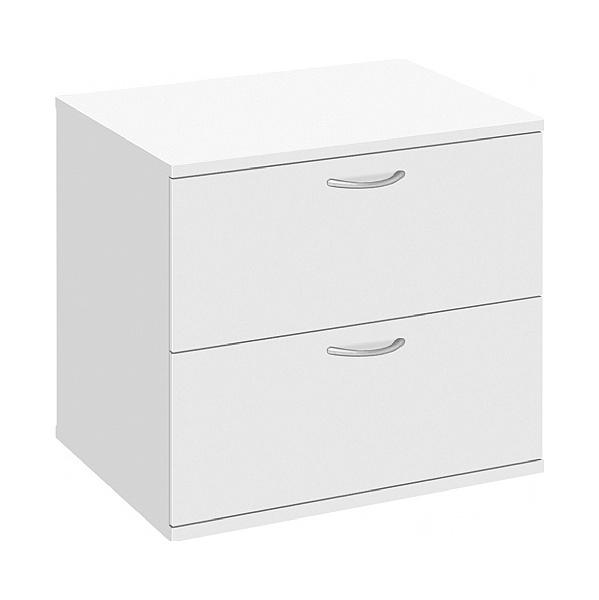 Commerce II White Desk High Side Filer