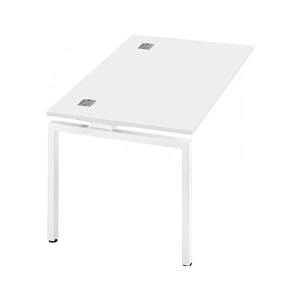 Commerce II Single Add On White Bench Desks