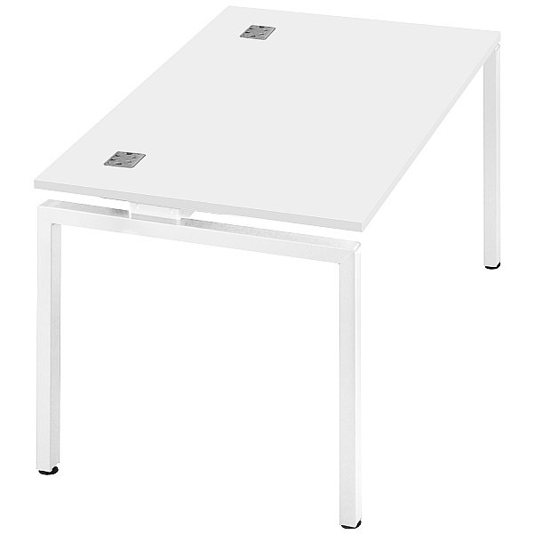 Commerce II Single Starter White Bench Desks