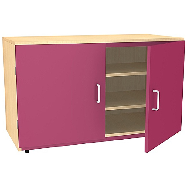 Splash Wooden Cupboard with Coloured Doors