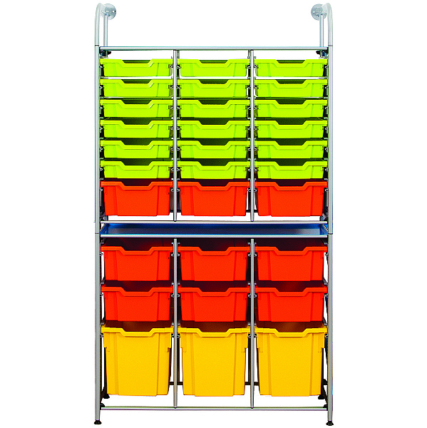Gratnells Callero Variety Tray Storage Unit With Shallow, Deep and Jumbo Trays