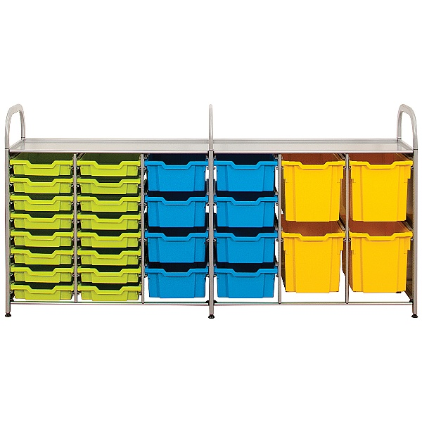 Gratnells Callero Low Variety Storage Unit With Shallow, Deep and Jumbo Trays