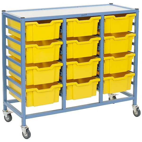 Gratnells Dynamis Collection Deep Tray 3 Column Storage Trolley