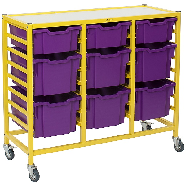 Gratnells Handy Mixed Tray 3 Column Storage Trolley