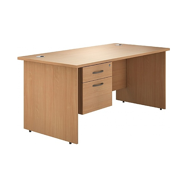 NEXT DAY Phase Single Pedestal Panel End Desk