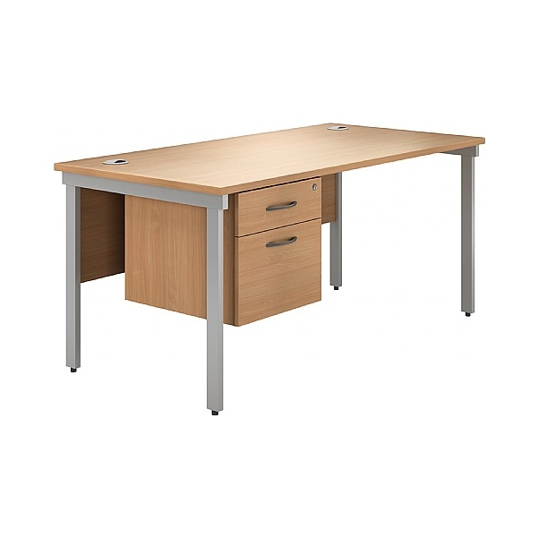 NEXT DAY Phase Single Pedestal Bench Desks