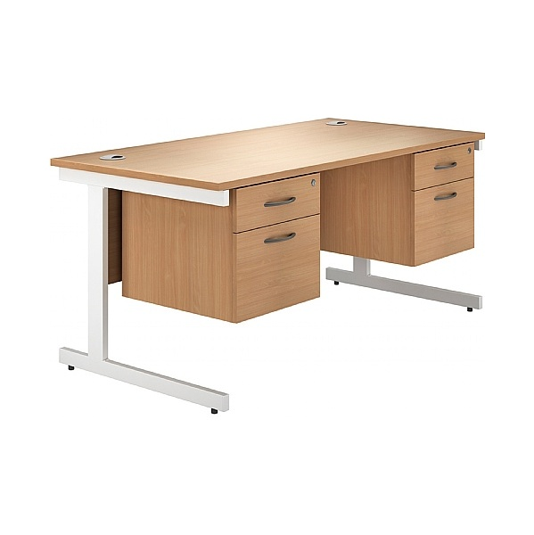 NEXT DAY Phase Double Pedestal Cantilever Desks