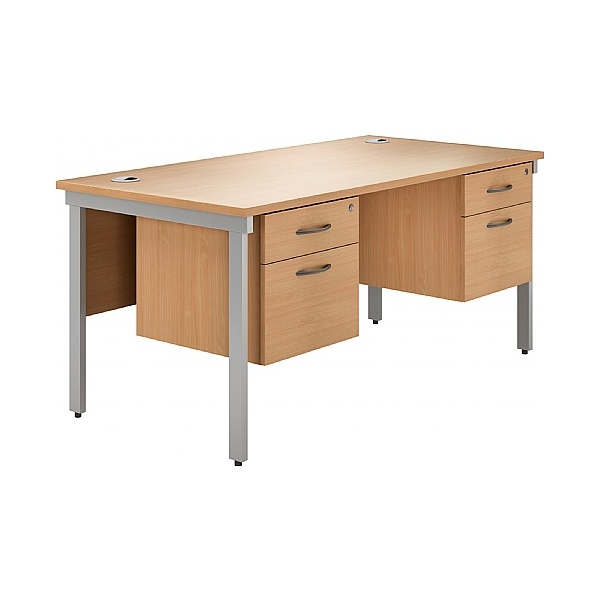 NEXT DAY Phase Double Pedestal Bench Desks
