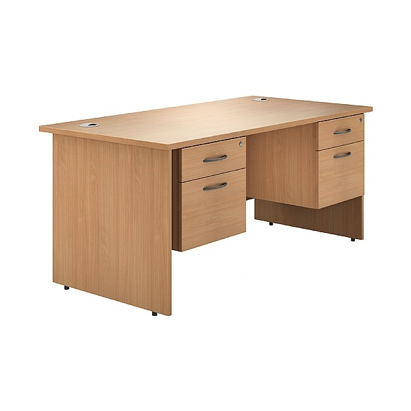 Phase Double Pedestal Panel End Desks
