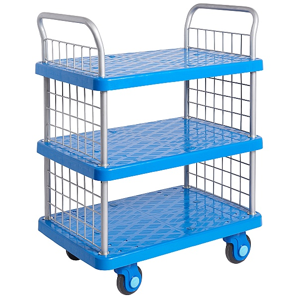 Proplaz Super Silent Three Tier Trolley with Mesh Ends