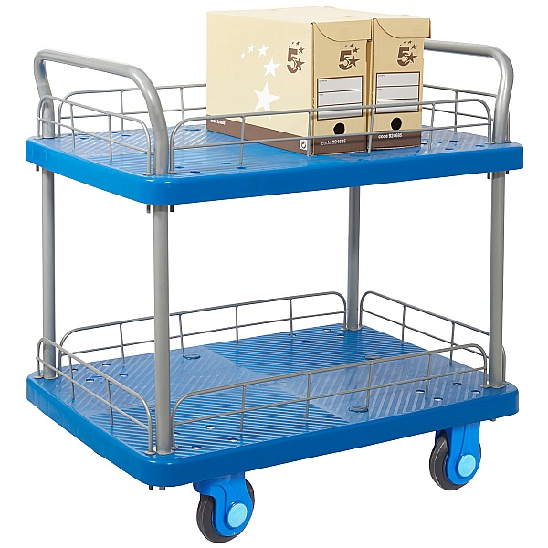 Proplaz Super Silent Two Tier Trolley with Wire Surround