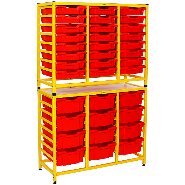 Gratnells Handy Tall Double Unit With Shallow and Deep Trays