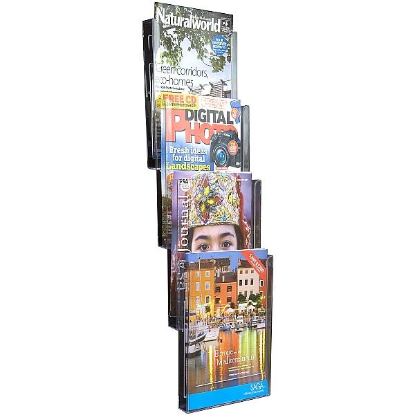 4x A4 Pocket Wall Mounted Leaflet Dispenser