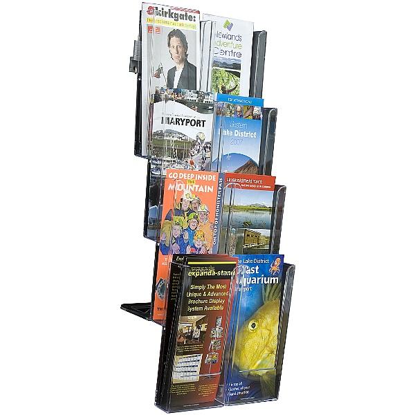8 x Third A4 Pocket Wall Mounted Leaflet Dispenser