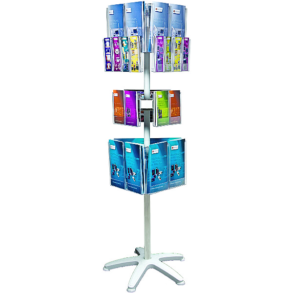 Freestanding Literature Carousel 12 x A4, 6 x A5 and 12 x Third A4