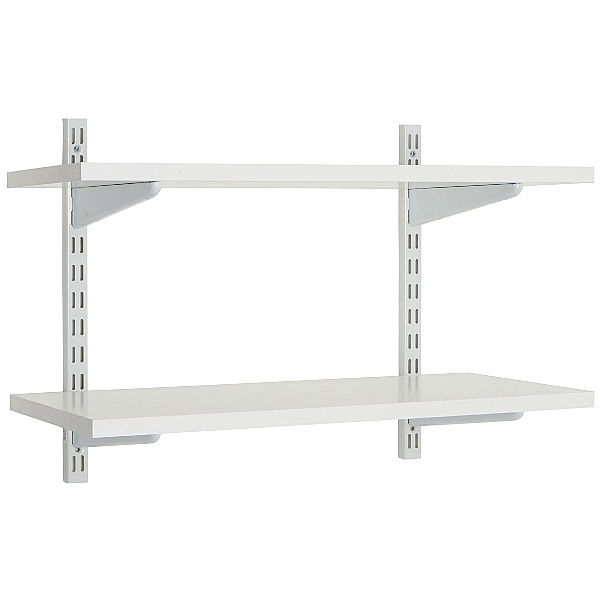 Office Wall Mounted Shelving Kit in White