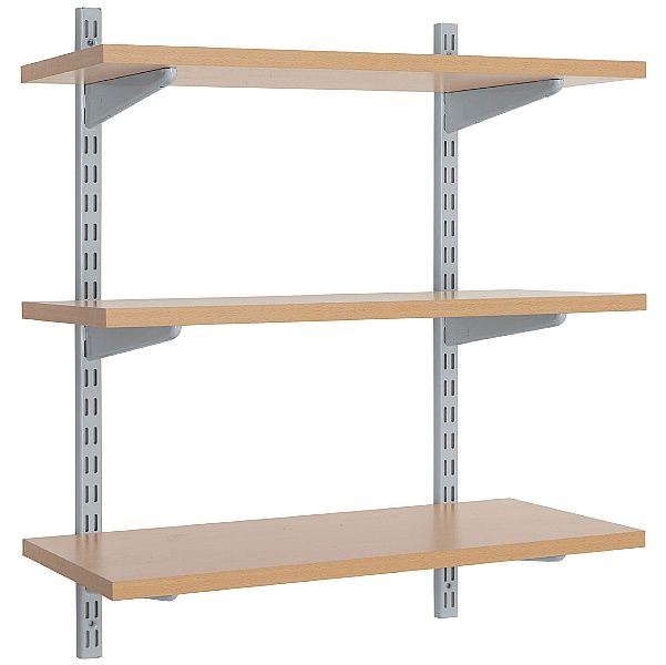 Office Wall Mounted Shelving Kit in Silver