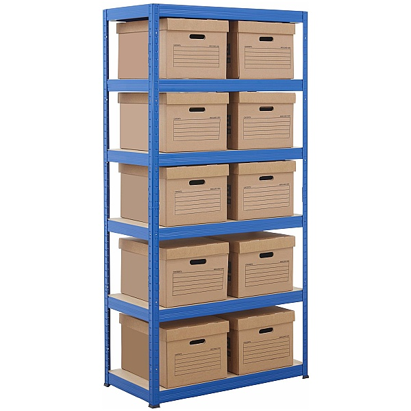 Document Storage Shelving With Standard Boxes