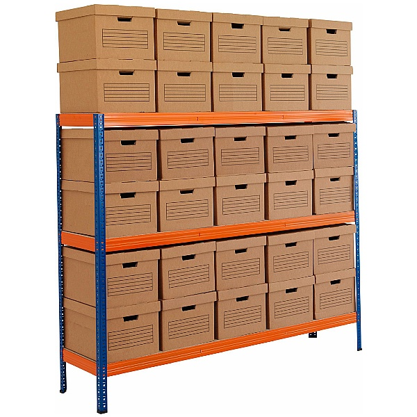 Archive Storage Racking With Standard Boxes