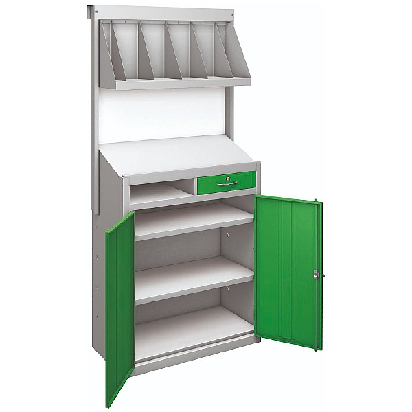 Industrial Warehouse Workstation With File Storage