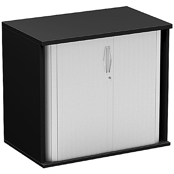 NEXT DAY Eclipse Essential Black Tambour Cupboards
